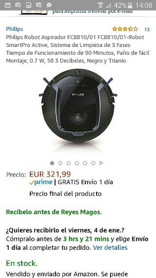 ROBOT ASPIRADOR NUEVO PHILIPS FC8810