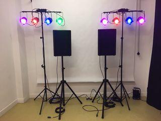 Alquiler sonido luces altavoces