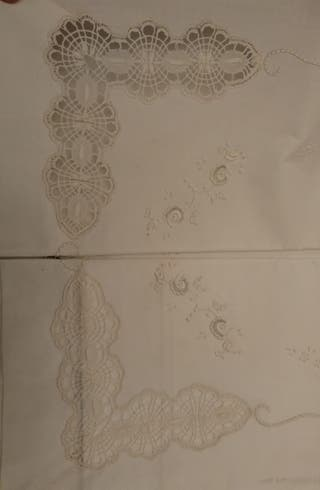 sabanas bordados a mano. Modelo antiguo