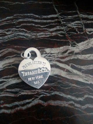 colgante de plata de tiffany