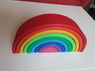 arco iris apilable madera artesanal - calidad CE-