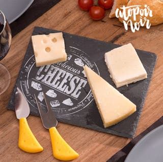 Bandeja de pizarra para quesos