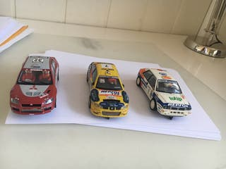 Coches rally scalextric