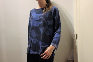 Sudadera Militar Azul Pull and Bear