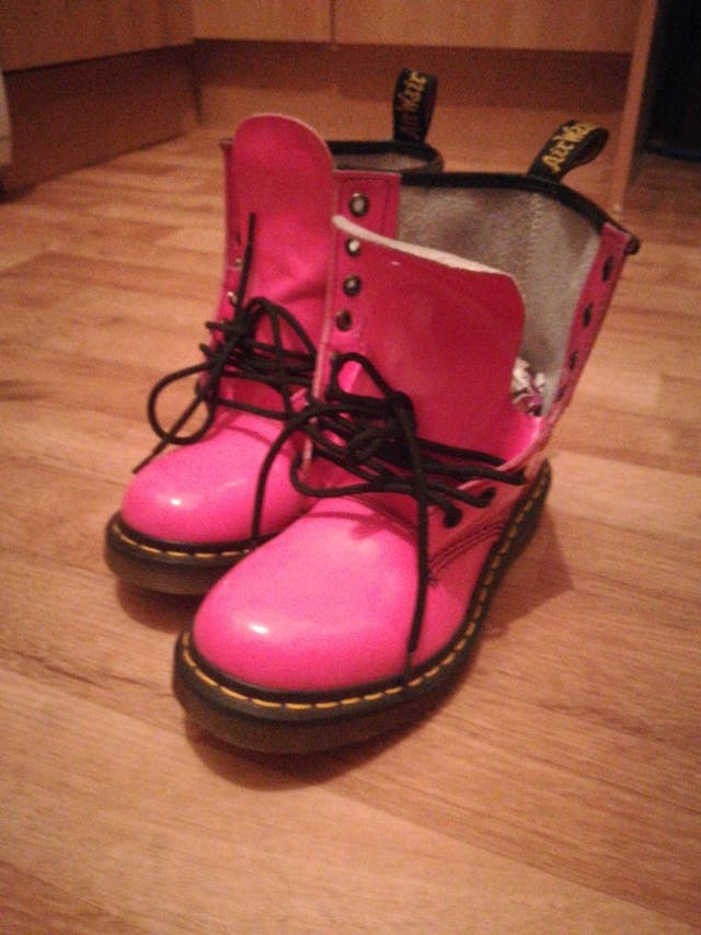 Patent Pink Doc Martens size 4