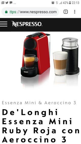 Cafetera Nespresso Essenza Mini Roja   Aeroccino 3 De Segunda Mano Por 95  U20ac En Madrid En Wallapop