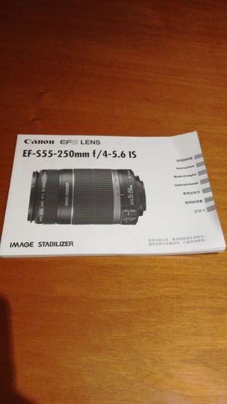 Objetivo Canon EF S55 250mm
