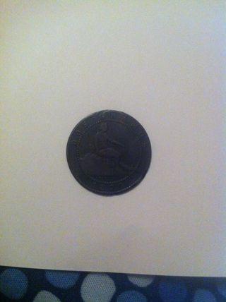 Moneda 5 Centimos I Republica 1870