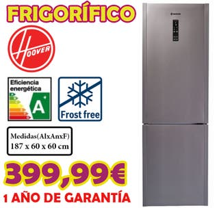 Frigorifico Hoover Frost Free A+++ 187cm