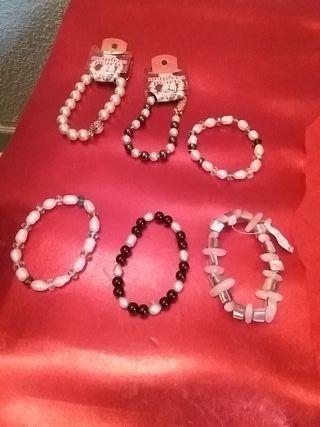 pulseras de perlas