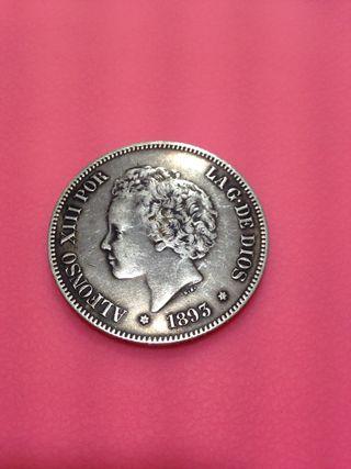 Moneda de plata 5 pesetas