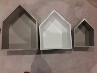 Baldas en forma de casita nuevas.