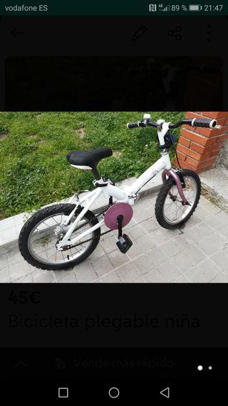 Bicicleta plegable de niño/niña , 16 pulgadas