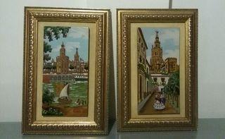 Cuadros artesania Sevillana