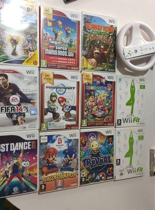 Wii, juegos. Mandos, tabla wifit