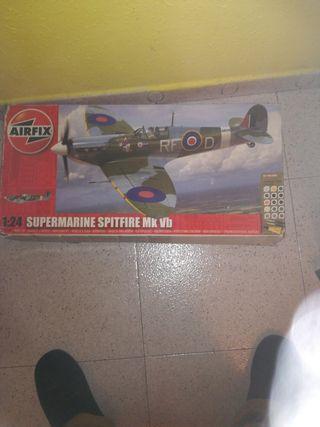 avión spitfire 1/24 maqueta
