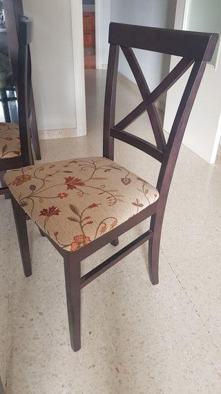 sillas madera para comedor 6unidades