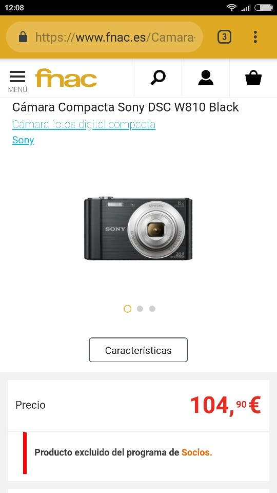 cámara digital Sony 20.1 mpxl
