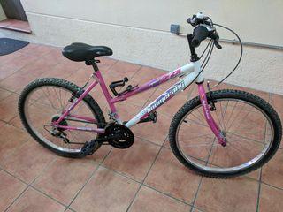 """bicicleta infantil de rueda de 24 """"marca boomeran"""