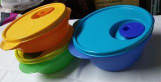 Resultado de imagen de surtido de tupperwares redondos marca tupperware