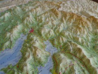 Mapa relieve Pontevedra nuevo