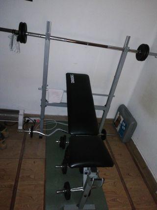banco de pesas en buen estado