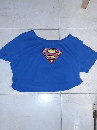 camiseta corta de superman