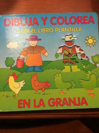 Libro de dibujo y colorear con plantilla