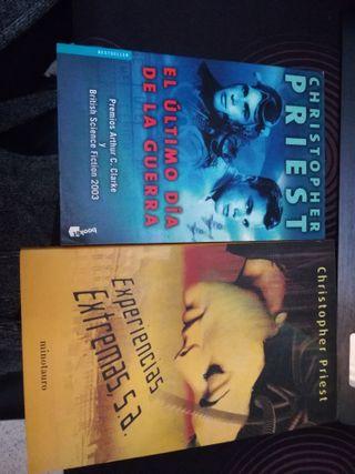 2 libros de Christopher Priest.