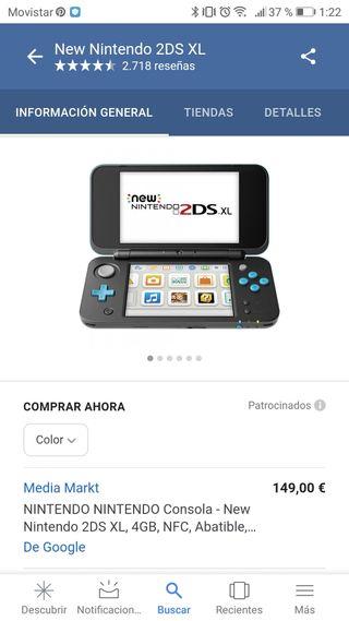 New Nintendo 2DS XL, NUEVA + 3 juegos