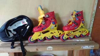 2 juegos de patines en linea para niños.