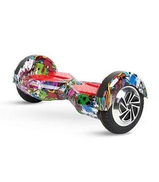 """Hoverboard 8"""" Color Rojo Diseño Hip Hop, Motor De"""