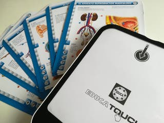 tablet educa touch cuerpo humano