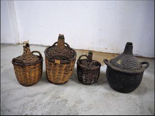 Garrafas antiguas decoración.