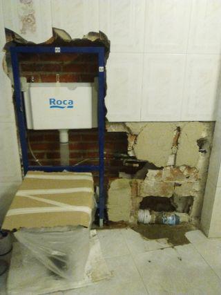 Montaje de wc encastrado