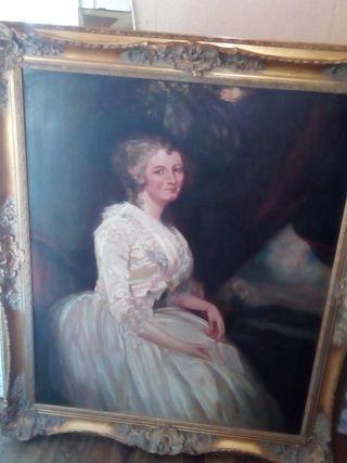 cuadro retrato copia de romney