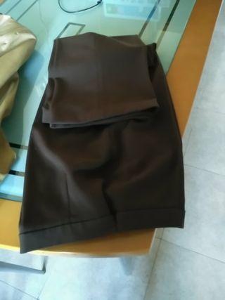 pantalón de vestir marrón