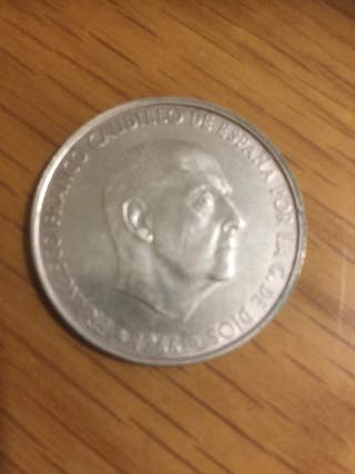 Moneda de 100 pesetas 1966