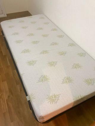 Cama individual de 90 cm