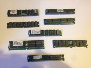 Memoria RAM SIMM antigua 72 pines. 386/486/Pentium