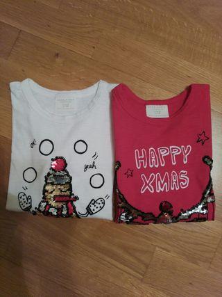 2 camisetas niña 7-8 años