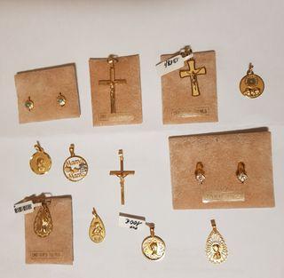 joyería oro colgante cruz pendiente