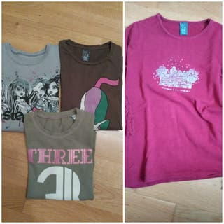 4 camisetas niña 7-8 años