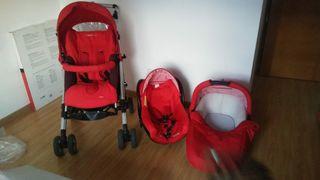 Carro bebé, trio silla, capazo y maxicosi