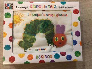 Libro de tela La oruga glotona