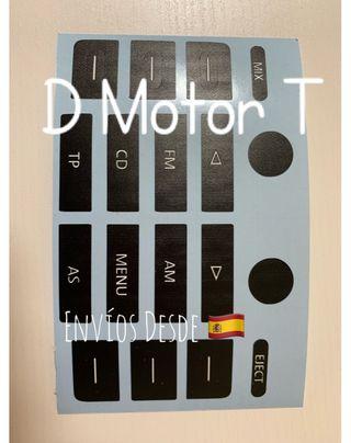 Set restauración Botonera Radio VW Golf Touran