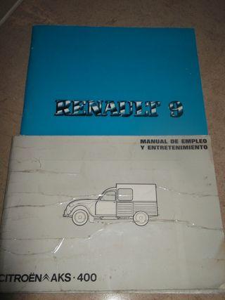 manual instrucciones Renault 9 y Citroen AKS 400
