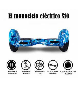 Hoverboard S10 Militar azul con hoverkart gratis