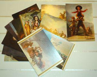 Lote postales de arte y pintura