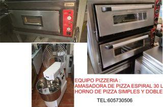 Amasadora espiral de pizza y horno de pizza